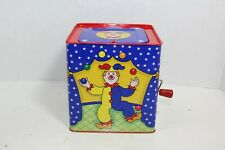 Jack in the Box Clown 1997 Schylling Plays Pop Goes the Weasel! Works Great!