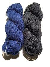 New listing Lot Of 2 Wool Yarn Blue Black 3 0zs