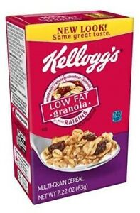 Kellogg's Low Fat Granola with Raisins cereal (2.22 oz) boxes - 40 count