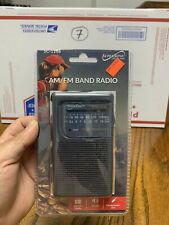 Supersonic Portable AM/FM 2 Band Pocket Radio Telescopic Antenna