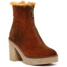 NEW Miista Rowan Platform Block Heel Boot, Brown Suede Women Size 9.5 $295