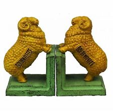 "Sheep bookends ""Golden Fleece"" - Very Heavy Rustic Cast Iron  Bookends"