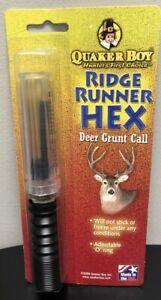QUAKER BOY Ridge Runner HEX - Deer Grunt Call Adjustable NEW