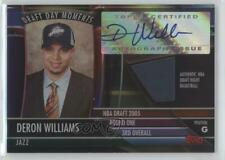 2005-06 Topps Big Game Draft Day Moments Relics /99 Deron Williams Rookie Auto