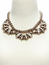 Banana Republic Regency Antique Brass Crystal Fan Statement Necklace NWT $185