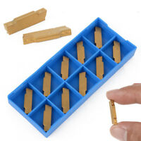 10pcs MGMN300-M Carbide Inserts Blades for Lathe Turning Grooving Tool Golden