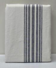 "NEW Pottery Barn Riviera Stripe 50"" x 108"" BLACKOUT Drape Panel~Charcoal Gray"