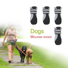 4PCS Soft Pure Rubber Sole Walking Running Dog Shoes for Small Pet Dog Puppy Cat