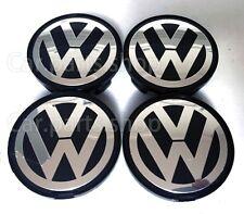 4x 63mm VW Wheel Center Caps Emblem  Cover Hub Golf Passat 7DO 610 165 7D0601165