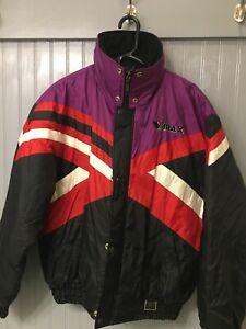 Yamaha Racing Sportswear Snowmobile Jacket Vmax Black Purple Men's Medium