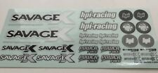 HPI SAVAGE X DECAL/STICKER SHEET-RC MODEL CAR-decals/kit/ 1/10 1/8
