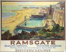 Vintage Southern Railway Ramsgate Kent Railway Poster Print A3/A4