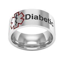 Medical Alert Ring, Sterling silver Band Ring,medical ring,medical condition