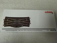 Märklin H0 24624 C-Gleis Doppelkreuzungsweiche mit Elektroantrieb Neuware