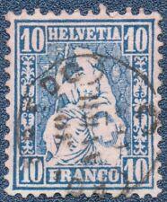 SWITZERLAND  1862  10 Franco Good Used  (A808)