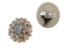 B05 bis ** 13 mm ** BOUTON Tige Or rose clair / Centre Strass Brillant - Couture