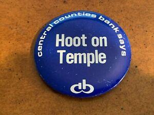 1977 Penn State Football Button v Temple Owls Scott Fitzkee Keith Dorney