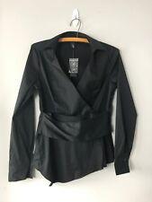 White House Black Market Top Wrap Blouse Size 2 Black WHBM NWT $88