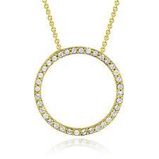 "Gold Tone Swarovski Elements Eternity Necklace, 18"""