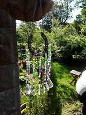 Suncatcher Handmade With Authentic Horseshoe And Stones That Prism Beautifully.
