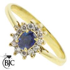 Anillos de joyería con gemas anillo de compromiso azules naturales