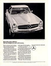 1965 MERCEDES-BENZ  230 SL  ~  CLASSIC ORIGINAL PRINT AD