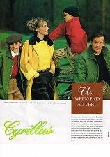PUBLICITE ADVERTISING 064  1988  CYRILLUS   mode enfants