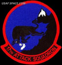 USAF 17th ATTACK SQUADRON - MQ-1 Predator- MQ-9 Reaper DRONES - ORIGINAL PATCH