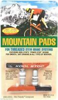 1 or 2-Pack Kool-Stop Mountain Bike Brake Pads Threaded Stem Posts Dual-Compound