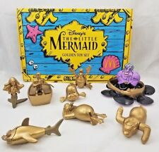 Disney The Little Mermaid Golden Toys McDonald's Happy Meal Set COA 1997 collect