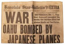 Pearl Harbor Dec 7 1941 Honolulu Newspaper Replica