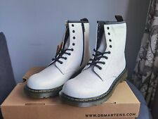 Dr. Martens Glittery white boots. UK size 4. Brand new with box