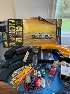 Vintage Aurora Slot Car Set (1965) and TYCO Racing Set with Cars Tracks AS IS