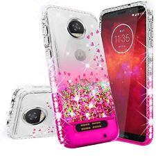 Motorola Moto Z2 Play Case Liquid Glitter Phone Case Waterfall Floating Quicksan