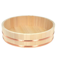 "15.5""D Wooden Sushi Bowl Hangiri Oke Tab For Mixing Sushi Rice/Made Japan"