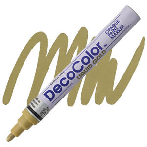 DecoColor - Paint Marker - Liquid Gold - Glossy Oil Base - Opaque - Broad Point