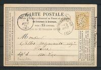 1874 CP N°59 Obl GC2475 + BR A Provenchères HAUTE-MARNE(50) N1212