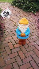 NEW Rare Union Blow Mold Blue Elf gnome Leprechaun Elf Lawn Ornament decoration
