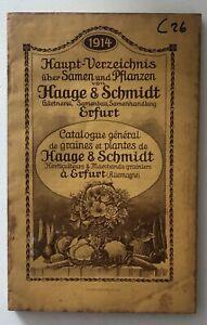 Catalogue De Graines Et Plantes De Haage & Schmidt 1914