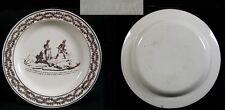 Assiette faïence fine «Macdonald aux Grisons»/  Montereau avant 1819