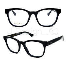 GUCCI GG 0005O 005 Black 53/20/145 Eyeglasses Rx Made Italy - New Authentic