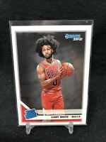 2019 Panini Donruss Rated Rookies Coby White Rookie RC #206, Chicago Bulls B88