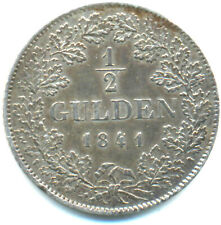 Württemberg, Wilhelm I., 1/2 Gulden 1841