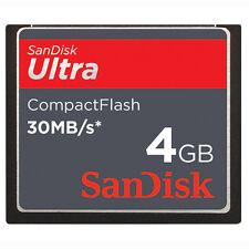 4 Go SanDisk Ultra 30MB/S CF Carte CompactFlash sdcfh-004g pour DSLR