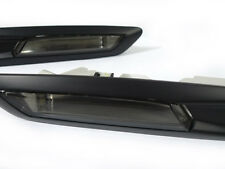 DEPO Smoke Matt Black Trim Fender Side Marker Light For 2011-16 BMW F10 5 Series