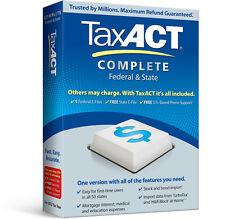 Avanquest TaxAct Complete Federal & State 2012 FREE SUPPORT & 5 free E-Files