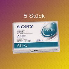 5 Stück, Sony SDX3-100C, AIT-3 Data Cartridge, Datenkassette, NEU & OVP