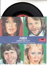 "ABBA Summer Night City & Medley  PICTURE SLEEVE 7"" 45 rpm BRAND NEW + juke strip"