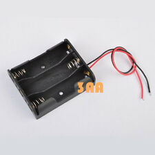 Plastic Battery Storage Case Box Holder For 3 X AA 3xAA 4.5V with Wire Leads