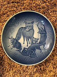 9379 Fox Mothers Day  Royal Copenhagen Plate  1979 made in Denmark 6 in